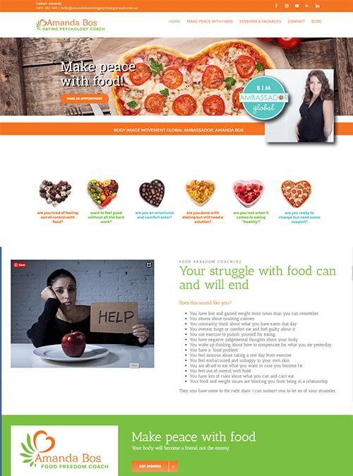 Amanda Bos Food Freedom Coach | website design