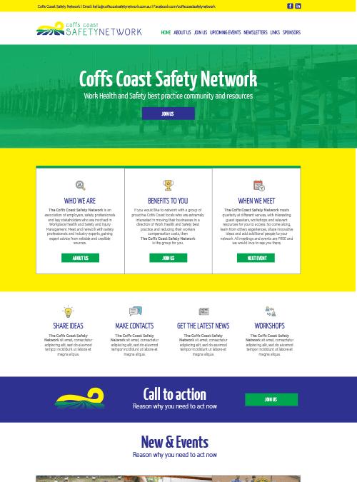 Coffs Coast Safety Network | website design
