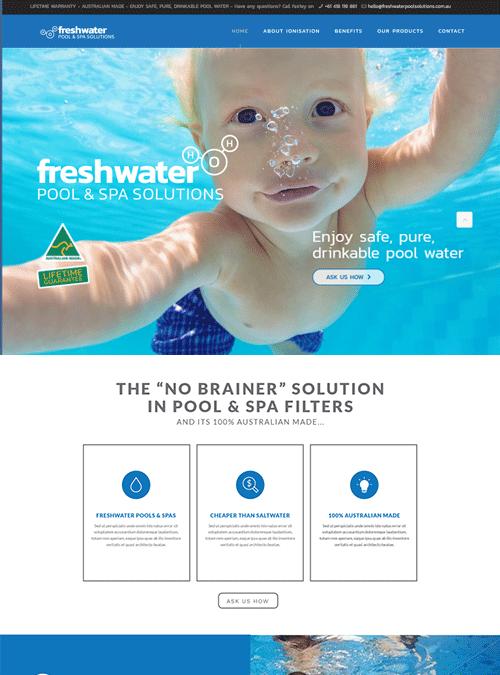 Freshwater Pool & Spa | website design