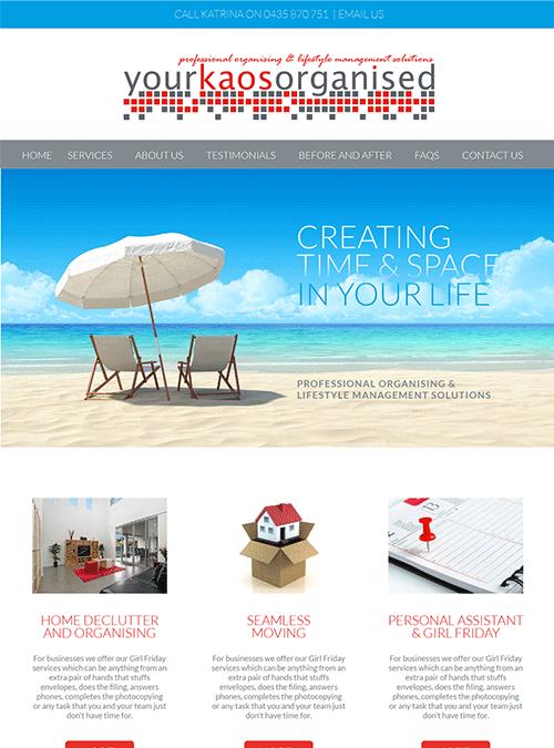 Your Kaos Organised | website design