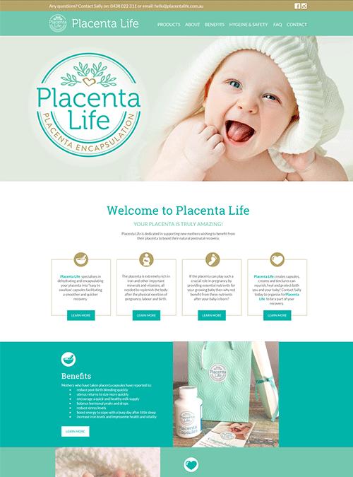 Placenta Life | website design