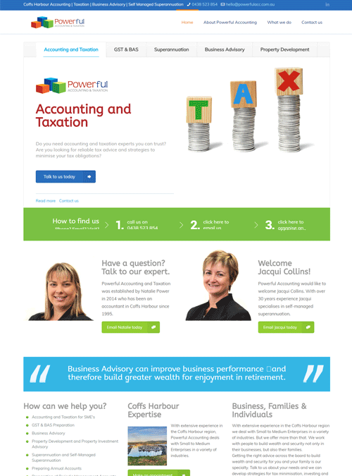 Powerful Accounting | website design