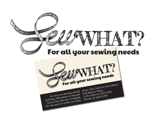 Sew What   logo design