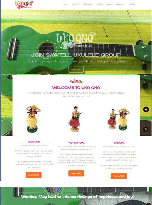 Uko Ono | website design