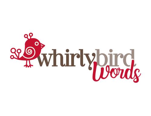 WhirlyBird Words | logo design